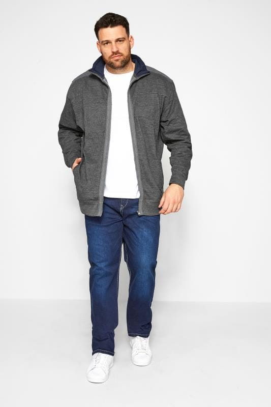 KAM Charcoal Grey Zip Through Jacket