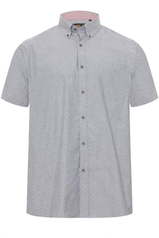 Smart Shirts KAM Charcoal Printed Premium Shirt 202819
