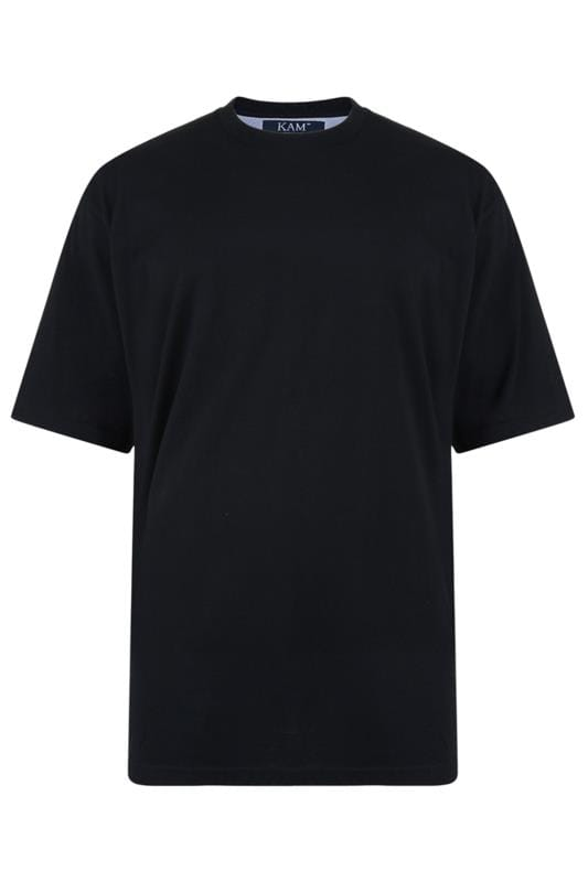 KAM Black Plain T-Shirt