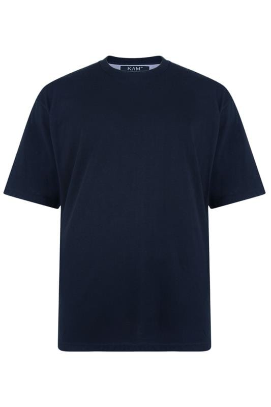 KAM Navy Plain T-Shirt