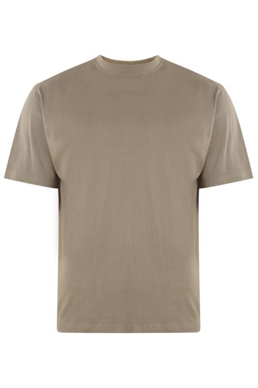 Men's T-Shirts KAM Taupe Plain T-Shirt