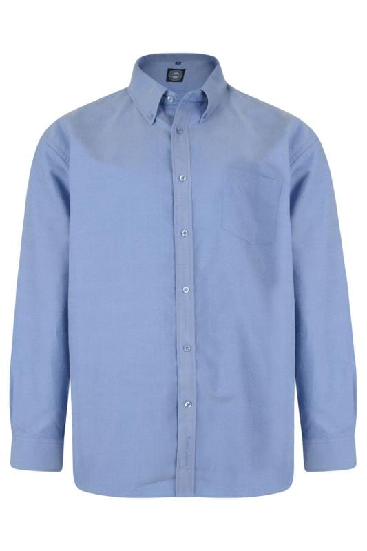 KAM Blue Oxford Long Sleeve Shirt