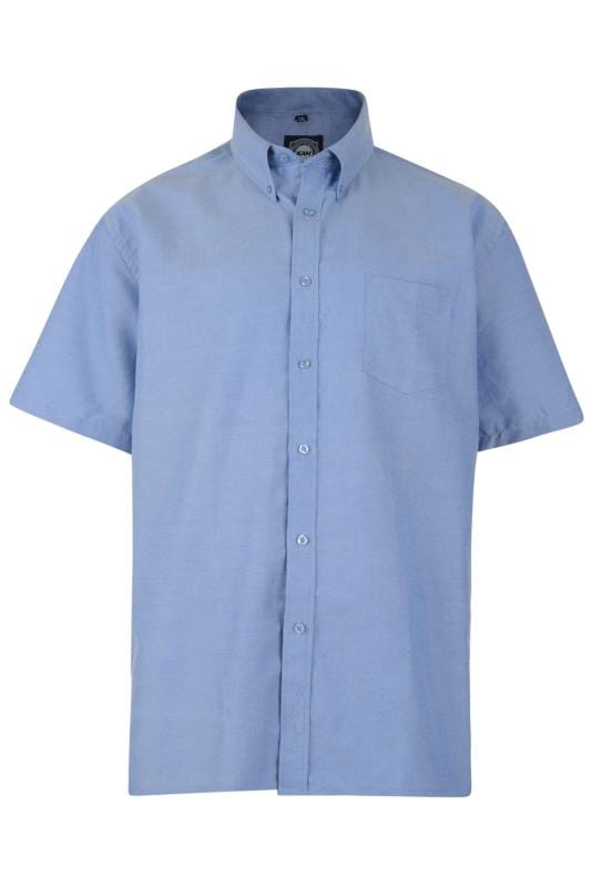KAM Blue Oxford Short Sleeve Shirt
