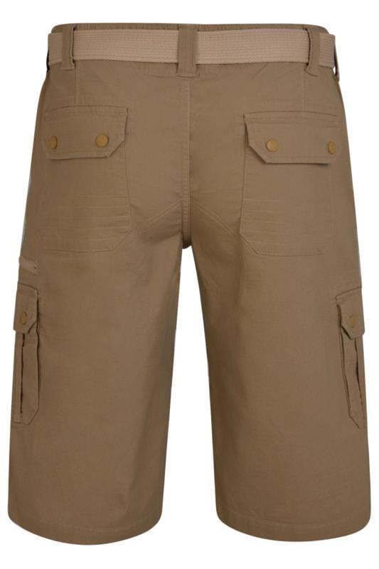 KAM Brown Canvas Cargo Shorts
