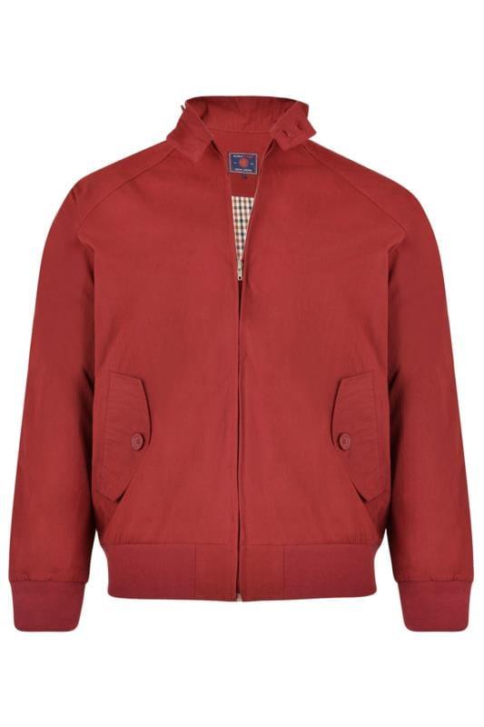 KAM Burgundy Harrington Jacket