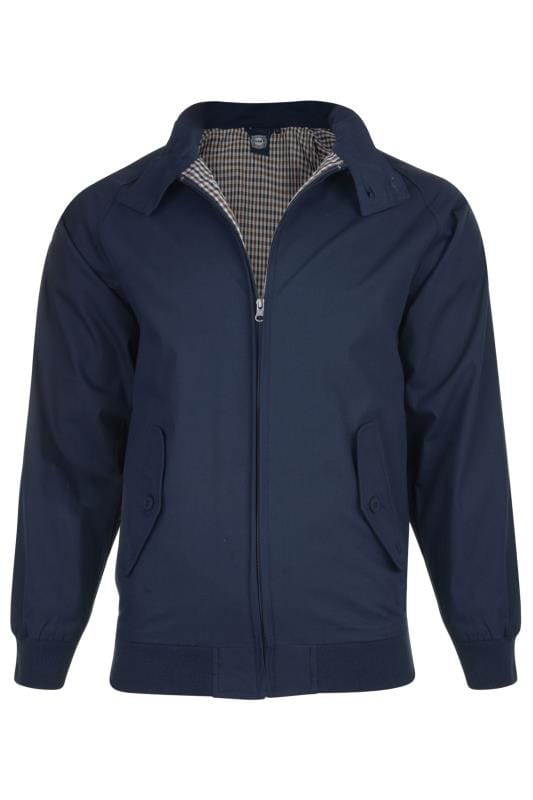 Men's Jackets KAM Navy Harrington Jacket