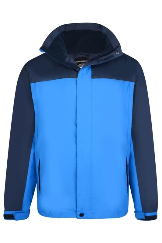 Men's Coats KAM Blue Colour Block Waterproof Jacket