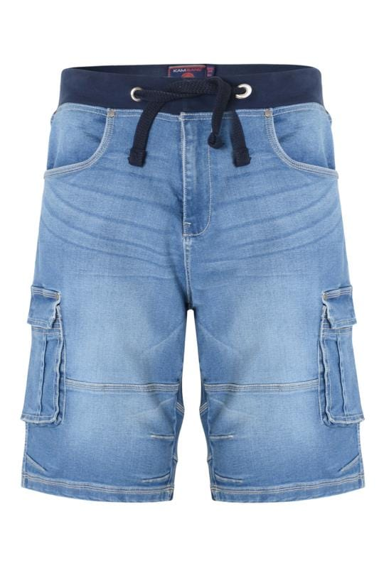 Men's Denim Shorts KAM Light Blue Denim Shorts