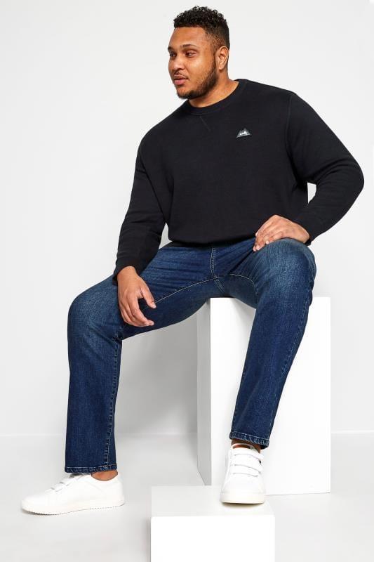 KAM Navy Stretch Denim Jeans
