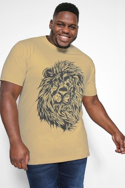 Plus Size T-Shirts KAM Sand Graphic Print T-Shirt