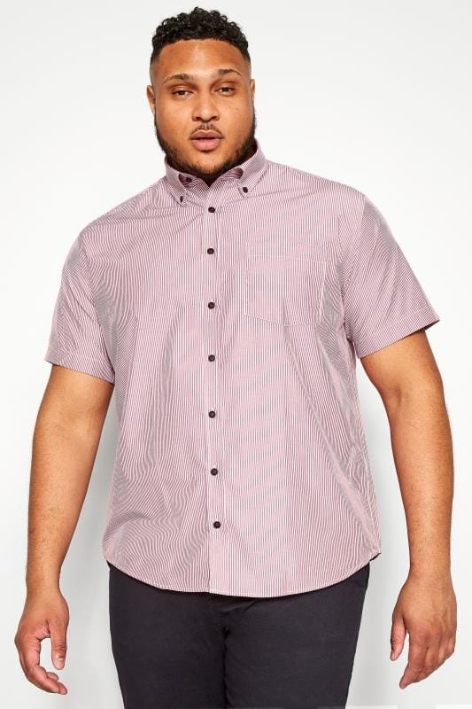 KAM Wine Red Stripe Premium Shirt
