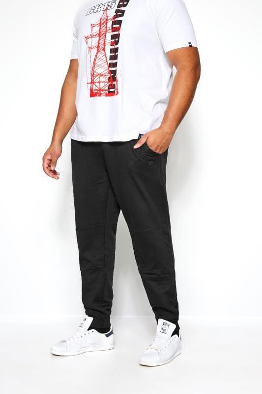 Plus Size Joggers KANGOL Black Mesh Effect Jogger