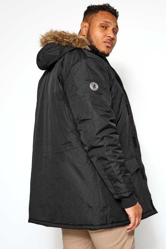 KANGOL Black Parka Coat