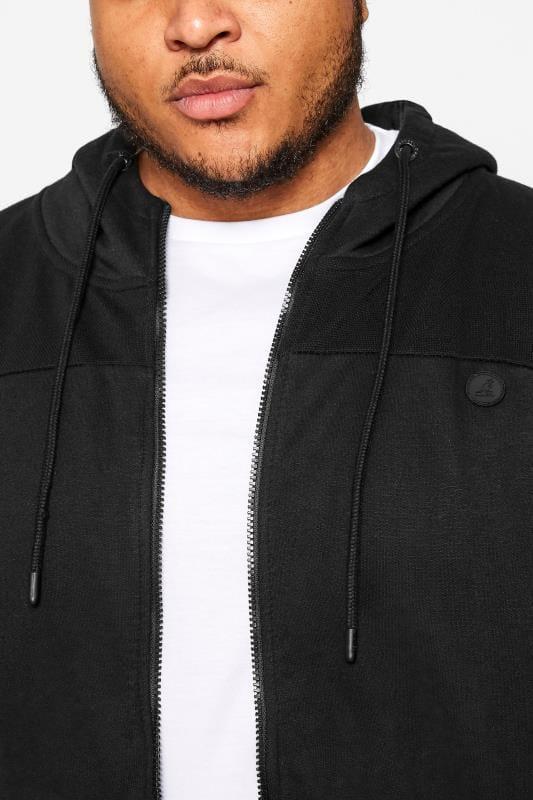 KANGOL Black Zip Through Hoodie