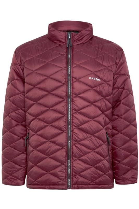 KANGOL Dark Burgundy Quilted Padded Jacket