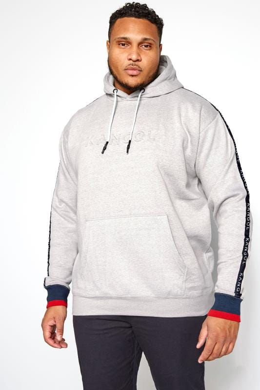 Sweatshirts KANGOL Grey Embossed Logo Hoodie 201694