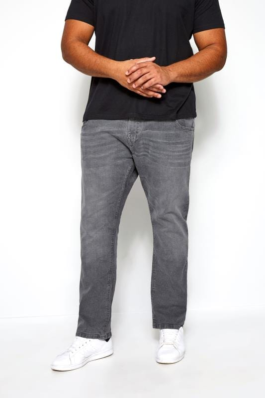 KANGOL Grey Regular Fit Jeans