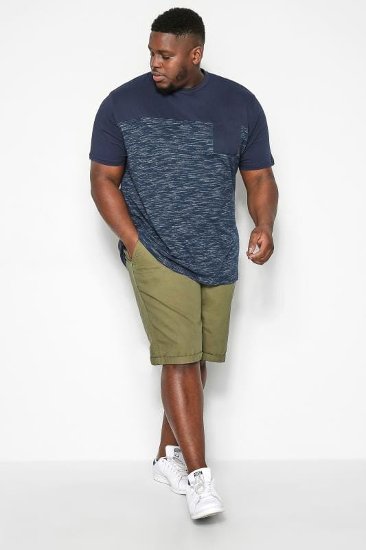 Plus Size Chino Shorts KANGOL Khaki Green Chino Shorts