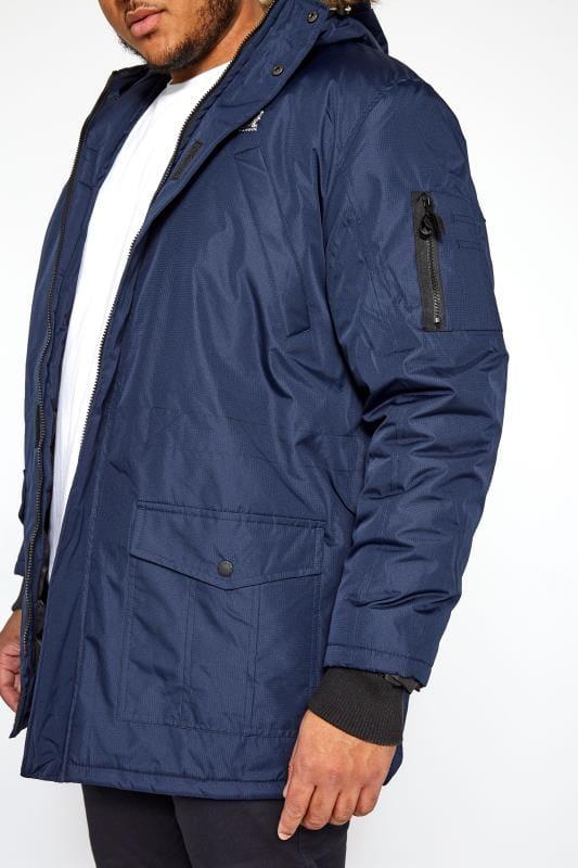 KANGOL Navy Parka Coat