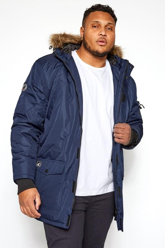 Coats KANGOL Navy Parka Coat 201708