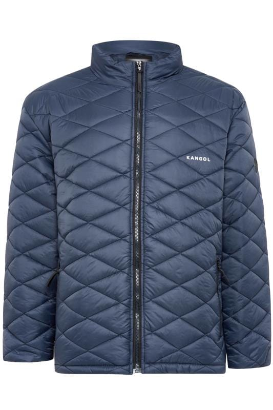 Plus Size Jackets KANGOL Navy Quilted Padded Jacket