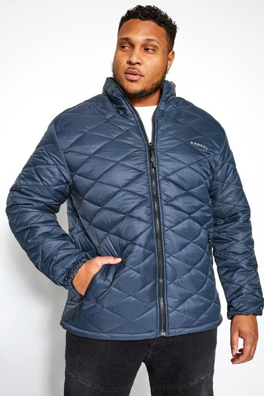 Большие размеры | Jackets KANGOL Navy Quilted Padded Jacket