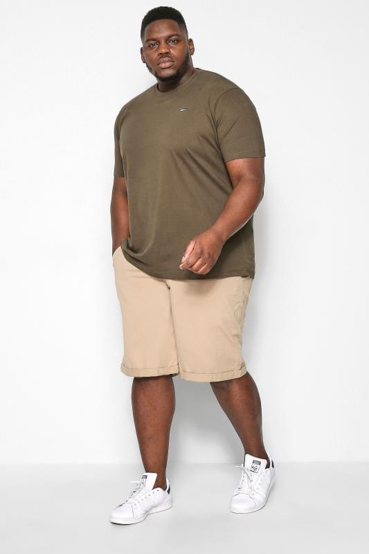 Plus Size Chino Shorts KANGOL Stone Chino Shorts