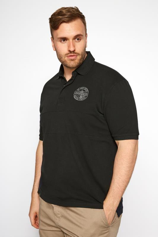 Polo Shirts dla puszystych KARRIMOR Black Polo Shirt