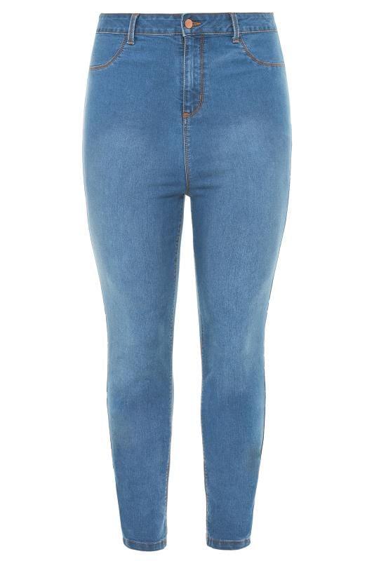 Vaqueros Skinny Tallas Grandes Mid Blue Super High Rise KIM Skinny Jeans
