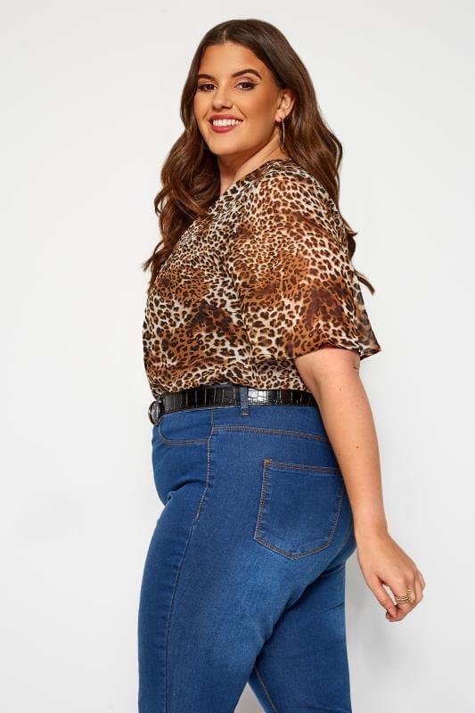 KOKO Brown Leopard Print Bodysuit