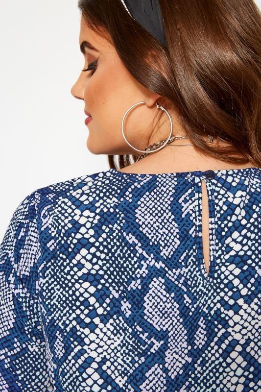 KOKO Blue Snake Print Smock Dress