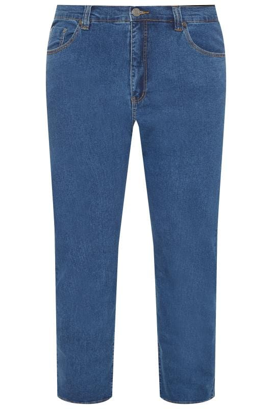Straight KAM Blue Stone Wash Stretch Jeans 201949