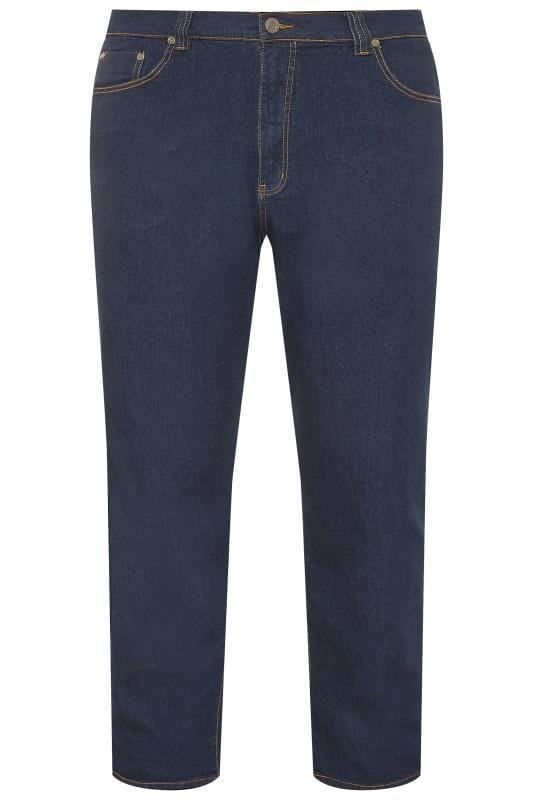 Straight Tallas Grandes KAM Indigo Blue Regular Fit Stretch Jeans