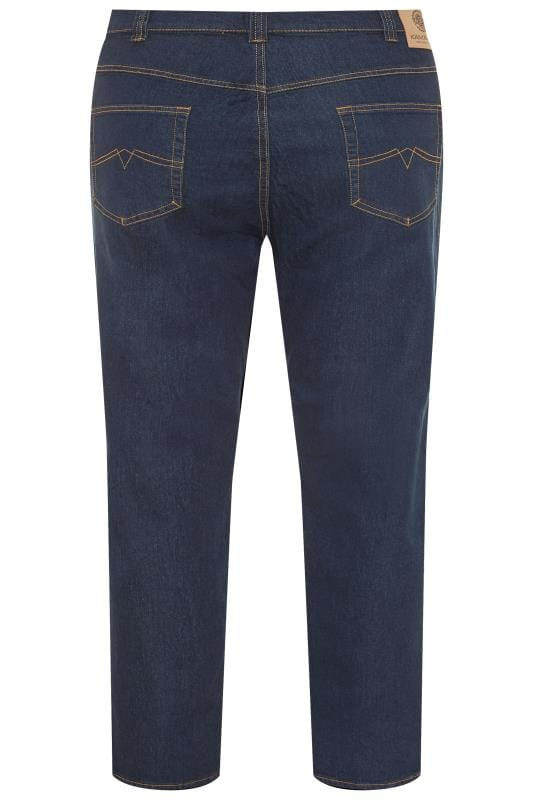 KAM Indigo Blue Regular Fit Stretch Jeans