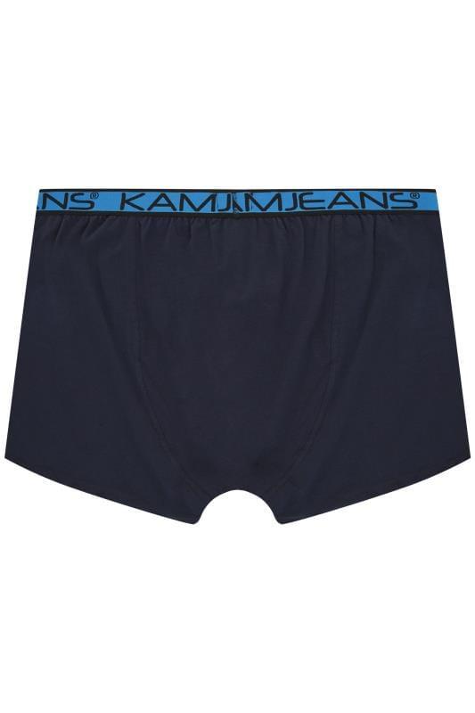 KAM 2 PACK Black & Navy Jersey Boxers