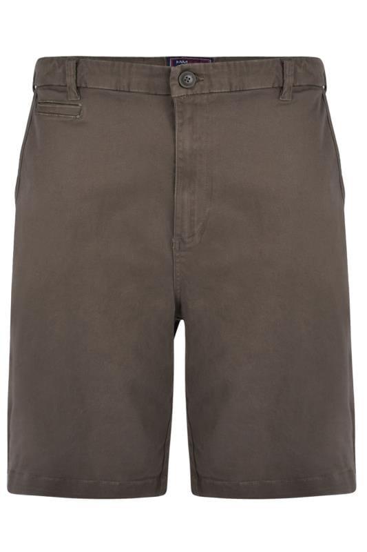 Chino Shorts Grande Taille KAM Khaki Chino Shorts