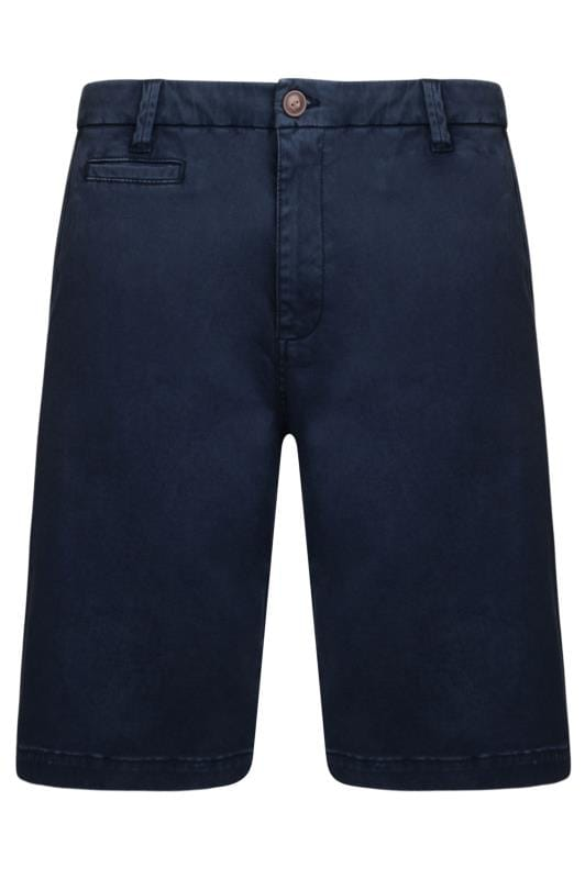 Plus Size Chino Shorts KAM Navy Chino Shorts