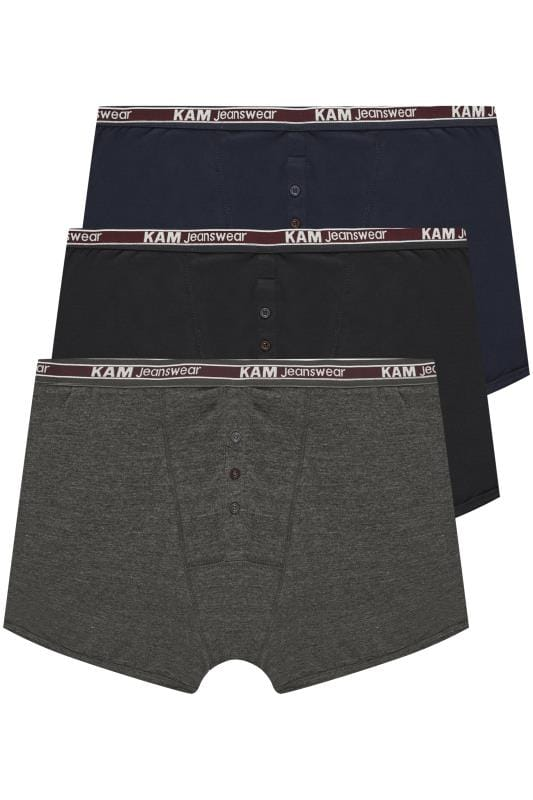 Plus Size Make-Up KAM 3 PACK Assorted Boxers