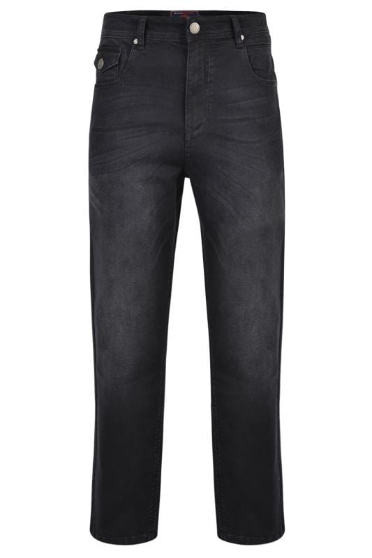 Men's Casual / Every Day KAM Black Stretch Denim Jeans