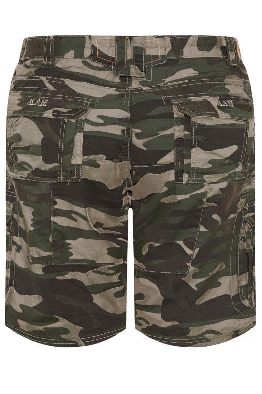 KAM Khaki Camo Cargo Shorts