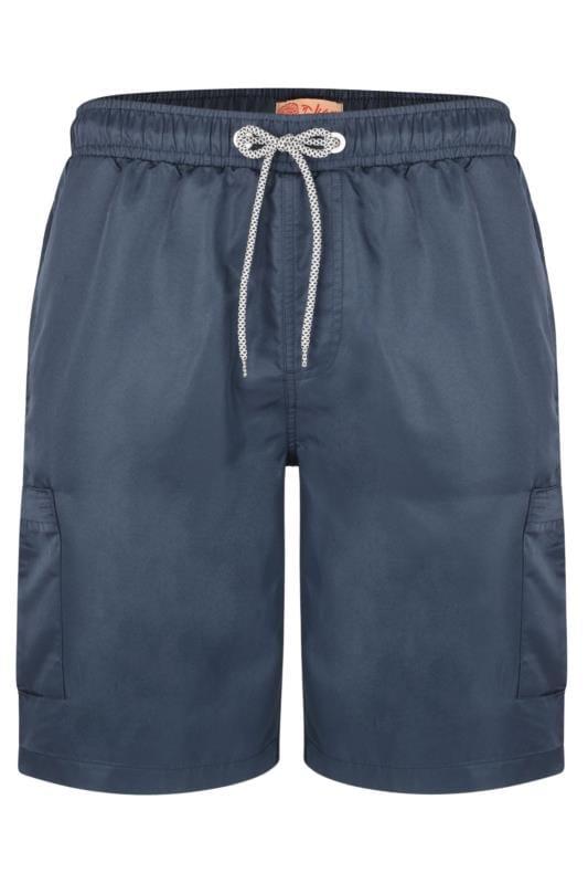 KAM Navy Cargo Swim Shorts