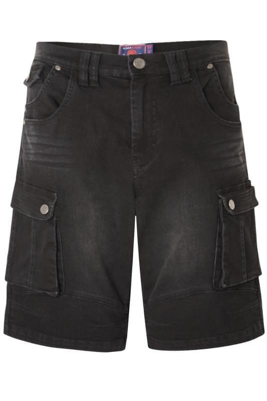 Men's Denim Shorts KAM Black Cargo Denim Shorts
