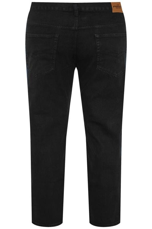 Jeans Coupe Droite Grande Taille KAM F101 Black Jeans