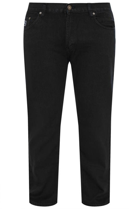 Plus Size Gifts KAM F101 Black Jeans