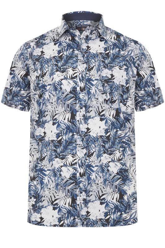 KAM Navy Floral Shirt