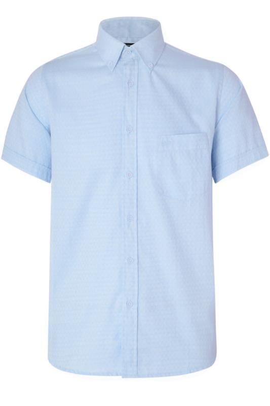 KAM Blue Herringbone Shirt_2e62.jpg