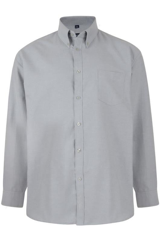 KAM Grey Oxford Long Sleeve Shirt