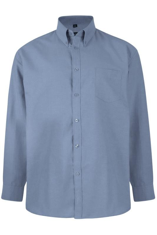 Smart Shirts KAM Blue Oxford Long Sleeve Shirt 202080