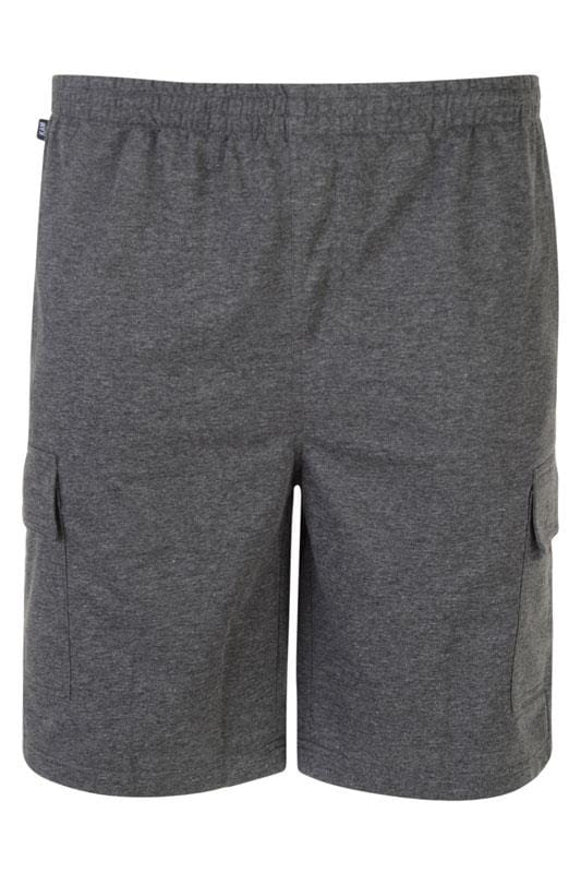 Jogger Shorts KAM Charcoal Grey Cargo Lounge Shorts 203577
