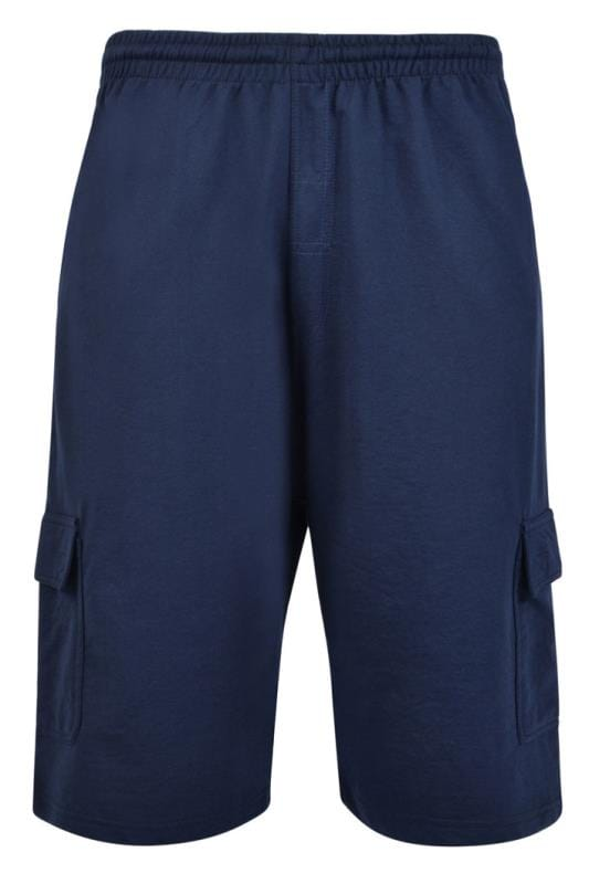 Men's Jogger Shorts KAM Navy Cargo Lounge Shorts